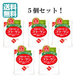 華舞の食べるコラーゲン 送料無料 5個セット 120g×5個セット 低分子 粉末サプリ 国産 予約 コラーゲンペプチド セール品 無添加