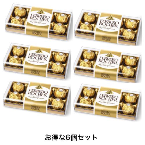 ヨーロッパを中心に愛され 半額 安心の定価販売 70年以上のチョコレート作り フェレロ ロシェ 送料無料 お得な6個セットフェレロ 8粒入り 手軽なギフトとして大活躍 ×6個セット ミディアムサイズ T-8 100g チョコレート
