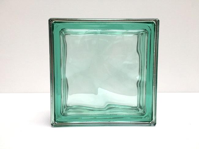 NEW!ガラスブロック【メタリックスタイル】/グリーン色/90個セット商品(W190×H190×D80mm)【イタリア製ガラスブロック】