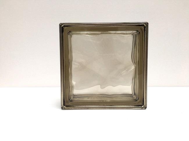 NEW!ガラスブロック【メタリックスタイル】/シエナ色/90個セット商品(W190×H190×D80mm)【イタリア製ガラスブロック】