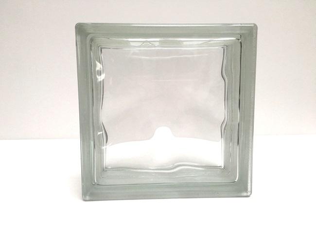 NEW!ガラスブロック【クリアスタイル】/クリスタルクリアー/100個セット商品(W190×H190×D80mm)【チェコ製ガラスブロック】