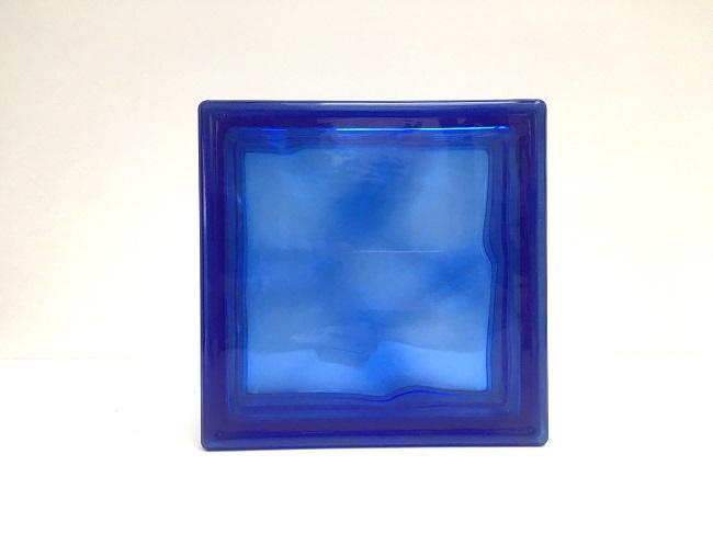 新商品!ガラスブロック【クリスタルスタイル】/クリスタルコバルトブルー/100個セット商品(W190×H190×D80mm)【チェコ製ガラスブロック】