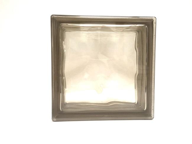 新商品!ガラスブロック【クリスタルスタイル】/クリスタルブラウン/100個セット商品(W190×H190×D80mm)【チェコ製ガラスブロック】