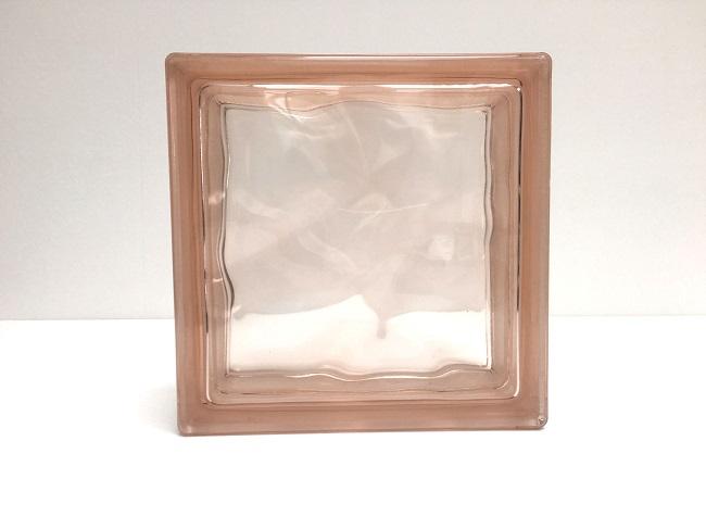 新商品!ガラスブロック【クリスタルスタイル】/クリスタルピンク/100個セット商品(W190×H190×D80mm)【チェコ製ガラスブロック】