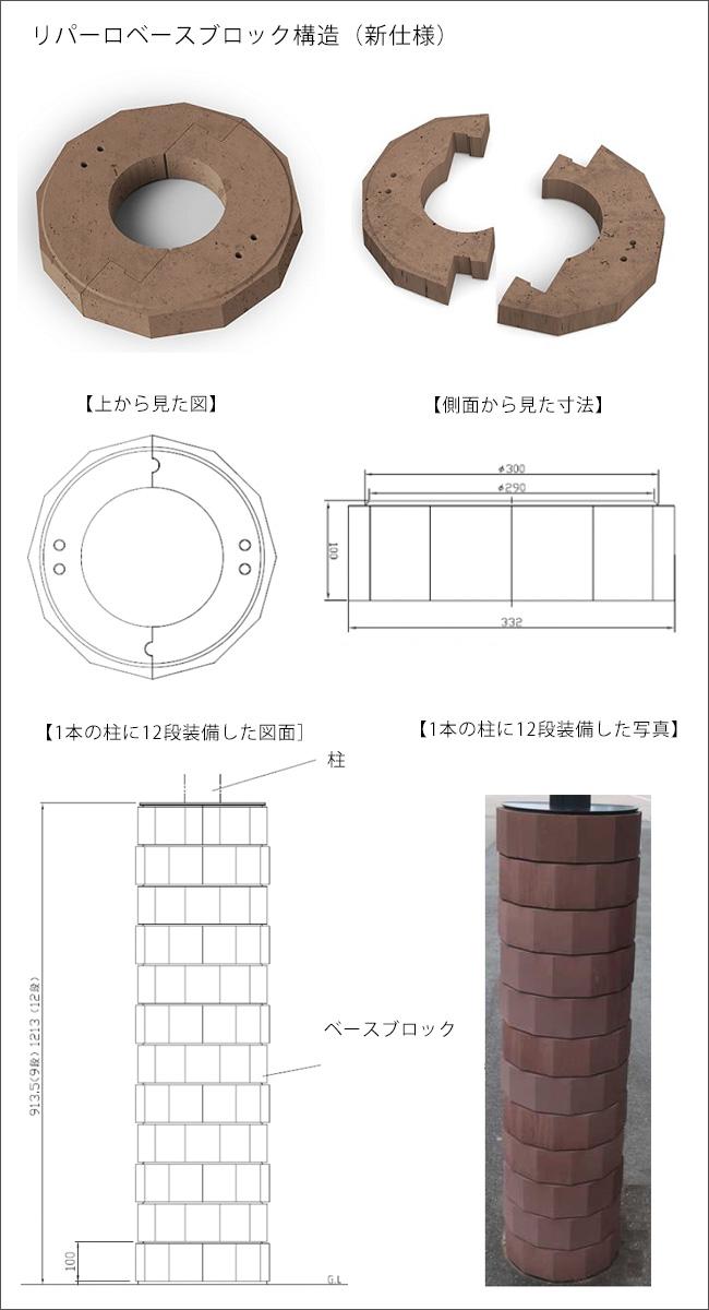 【商品名:「リパーロ」ベースブロック増設用・24段セット】