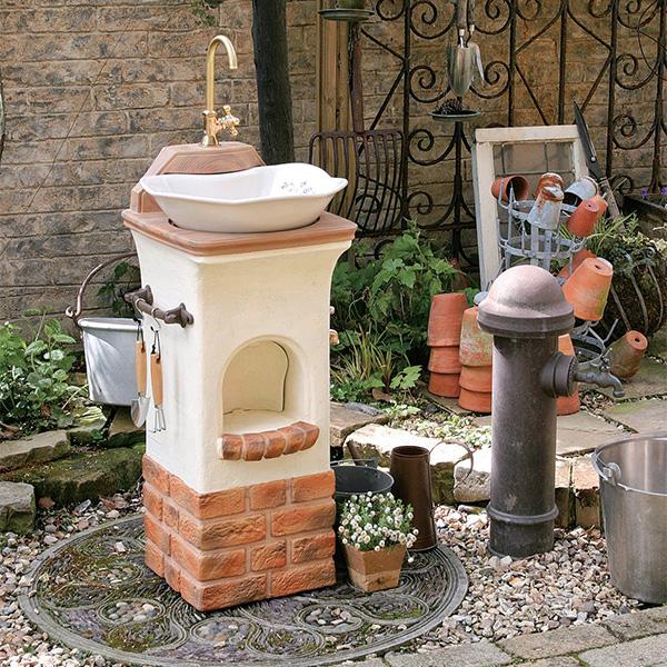 【ディーズガーデンの立水栓】商品名:スタンドウォッシュ/リリー【可愛くおしゃれな立水栓 、ディーズガーデン製】