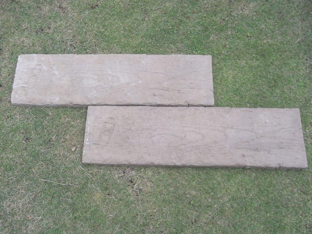【腐食しない石製枕木】ブラッドストーン社製 ログ・スリーパー15枚セット(900mm)英国製 コンクリート 枕木