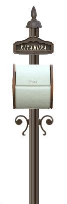 ディーズガーデン機能門柱 『シャルルポール』 門柱剣先タイプ、シフォンもしくはブーケ、鋳物文字タイプ、インターフォンカバーなし