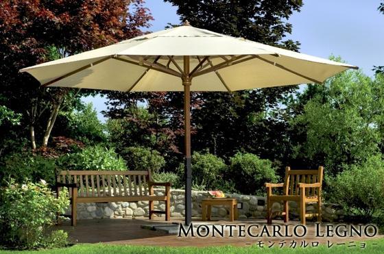 【イタリア製高級パラソル】商品名:モンテカルロ 全サイズ共通 【Italyモデル】パラソルベース・石盤込価格