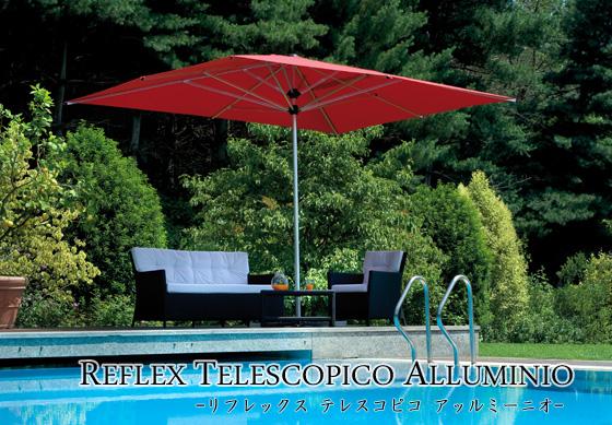 【イタリア製高級パラソル】商品名:リフレックス・テレスコピコ 全サイズ共通 【Italyモデル】