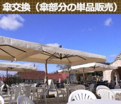 【ガーデンパラソル】イタリアFIM社/カプリ・レーニョ 交換用スペアパラソル