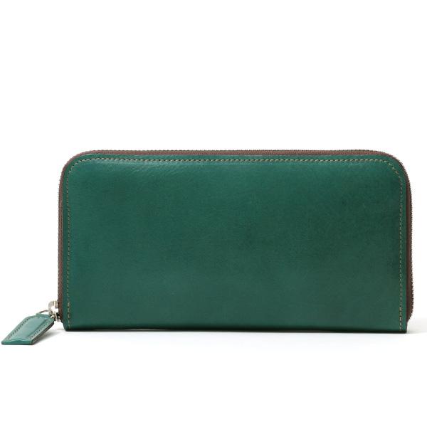 長財布 メンズ 本革 ラウンドファスナー グリーン カーキ 緑色 財布 レザー 日本製 レディース 大容量 サイフ 小銭入れあり ボーデッサン(BEAU DESSIN)