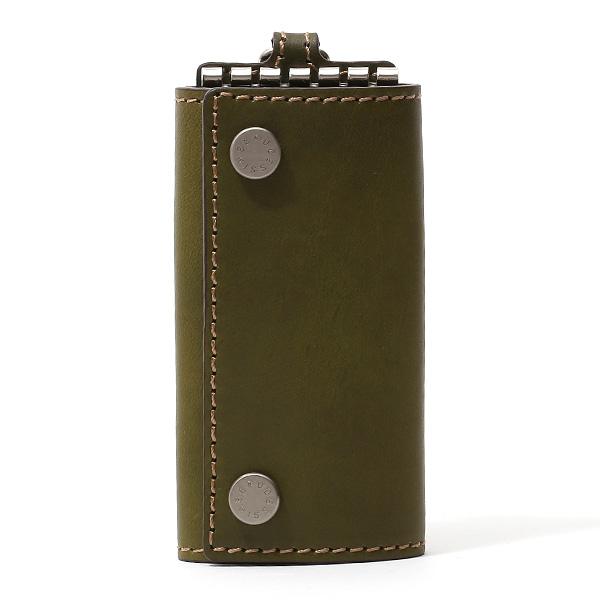 キーケース メンズ 本革 レディース レザー グリーン カーキ 緑色 キーホルダー スナップボタン かわいい オシャレ キーケース プレゼント 贈り物 ボーデッサン