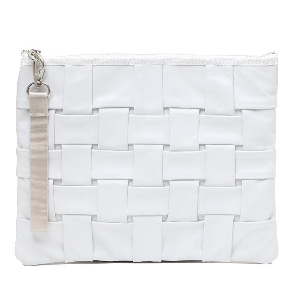 サコッシュ メンズ レディース クラッチバッグ 日本製 ブランド ホワイト 白色 ショルダーバッグ おしゃれ かわいい 大人 女子 セカンドバッグ 高級 上品 キレイめ TABLET NEST CARRYNEST(キャリーネスト)