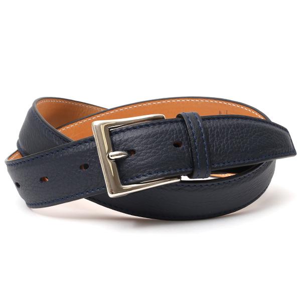 ベルト メンズ 本革 シセイ(Cisei) レザー ベルト ブルー ネイビー 青色 ビジネス ロング