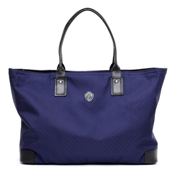【高級ネクタイメーカーが手掛けたシルク生地トートバッグ】 日本製 メンズ 本革 ブルー ネイビー 青色 ビジネスバッグ ブランド 鞄 ファスナー付き レザー カバン A4 おしゃれ 大人 大容量 大きめ Franco Spada(フランコスパダ)