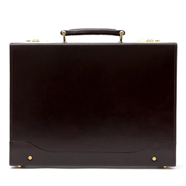 アタッシュケース 本革 A4 レザー 日本製 ブランド ダークブラウンブラウン 茶 茶色 メンズ ビジネスバッグ 国産 ブリーフケース 高級 上品 大人 シンプル 上質 軽量 大容量 カバン 国産 鞄 オールレザー ファイブウッズ(FIVE WOODS)