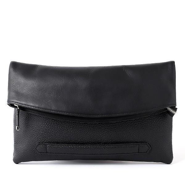 クラッチバッグ メンズ 本革 日本製 ブランド ブラック 黒 黒色 小さめ セカンドバッグ ミニ ショルダーバッグ 肩掛け 鞄 カバン 高級 30代 2way ファイブウッズ(FIVE WOODS) HORIZON(ホライズン) #39241