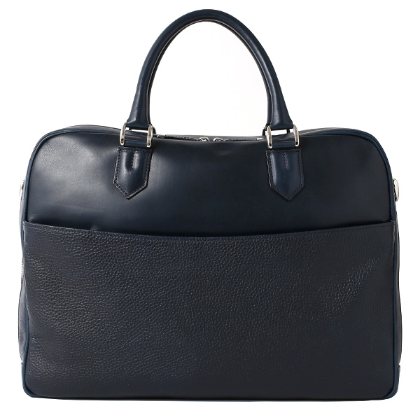 ビジネスバッグ メンズ 本革 ブリーフケース 日本製 ブルー ネイビー 青色 ショルダーベルト付き 肩掛け 無地 鞄 カバン 通勤 オシャレ 高級 シンプル 大容量 ファイブウッズ(FIVE WOODS) HORIZON(ホライズン) #39243