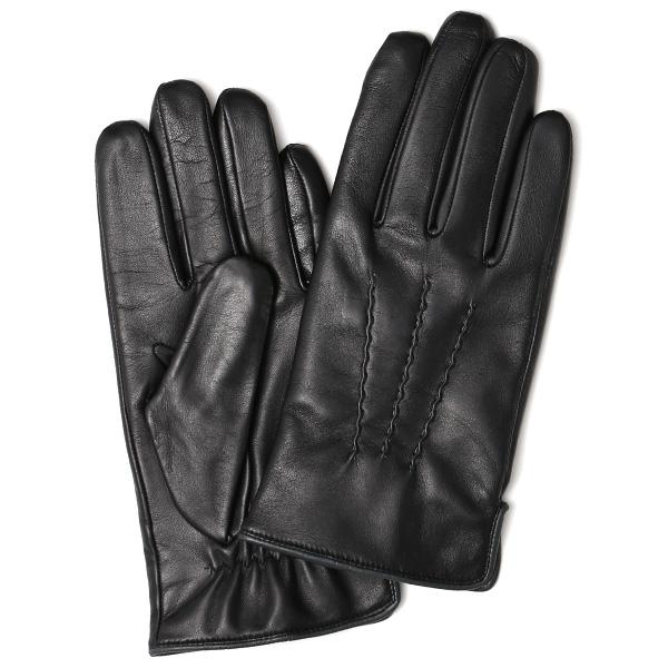 日本の老舗手袋メーカーKURODA(クロダ) 日本製 革手袋 ラムスキン(仔羊革) ブラック 黒 黒色 メンズ 本革 男性 紳士用 手袋