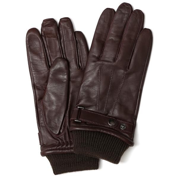 創業40年の手袋専門ブランドKURODA ラムスキン(仔羊)革手袋 メンズ ダークブラウンブラウン 茶 茶色 本革 レザー 男性 男 プレゼント クリスマス ギフト