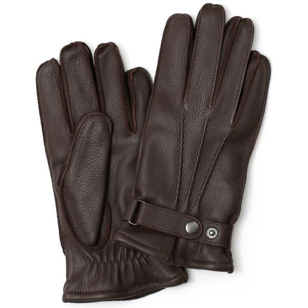 KURODA(クロダ) ディアスキン(鹿革) 本革 手袋 メンズ ダークブラウンブラウン 茶 茶色 丈夫 頑丈 耐水性 てぶくろ 皮 グローブ