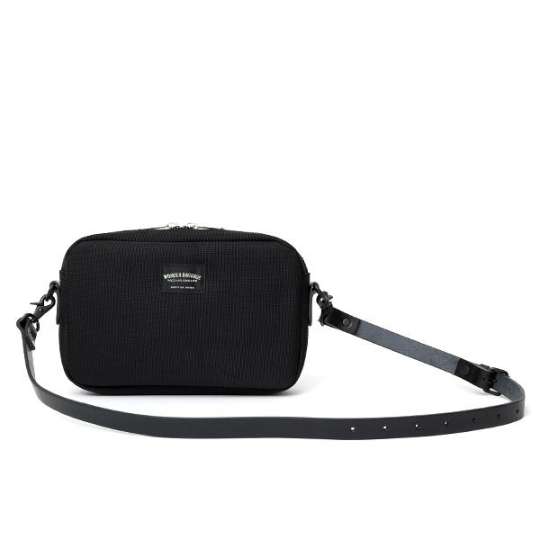 ショルダーバッグ メンズ ブラック 黒 黒色 レディース バリスティックナイロン レザー 本革 日本製 ブランド 鞄 カバン ワンダーバゲージ(WONDER BAGGAGE)