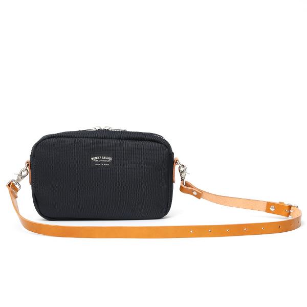 ショルダーバッグ メンズ ブルー ネイビー 青色 レディース バリスティックナイロン レザー 本革 日本製 ブランド 鞄 カバン ワンダーバゲージ(WONDER BAGGAGE)
