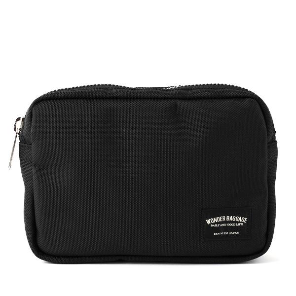 バッグインバッグ ポーチ ブラック 黒 黒色 メンズ レディース 日本製 ブランド カバン 鞄 バッグ ワンダーバゲージ(WONDER BAGGAGE)