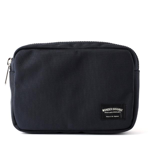 バッグインバッグ ポーチ ブルー ネイビー 青色 メンズ レディース 日本製 ブランド カバン 鞄 バッグ ワンダーバゲージ(WONDER BAGGAGE)