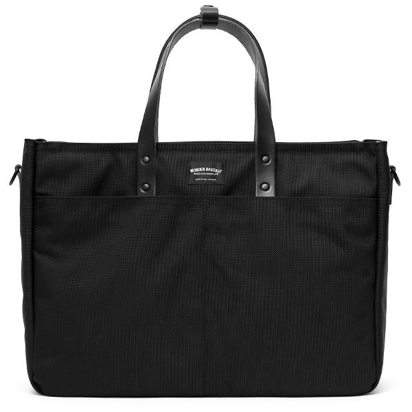 トートバッグ メンズ 大容量 ビジネスバッグ 本革 日本製 ブランド レザー ブラック 黒 黒色 ショルダー紐付き 大きい 大きめ 13インチ ノートPC パソコン ケース 鞄 カバン おしゃれ 大人 かわいい ワンダーバゲージ(WONDER BAGGAGE)