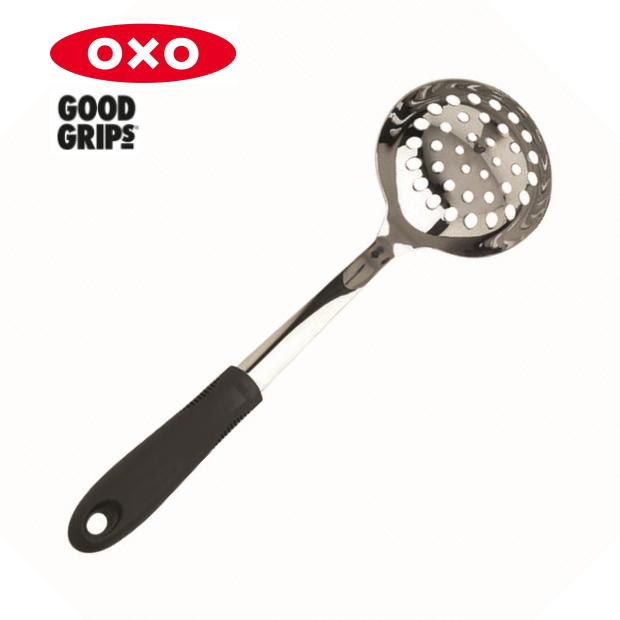 オクソのグッドグリップス オシャレなデザインです オクソ 流行 穴あきレードル OXO 穴あきおたま 売却