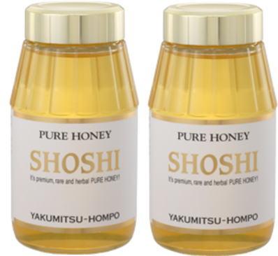 薬蜜本舗 <ショウシ蜂蜜450g×2個セット(化粧箱入)>いろいろな食べ物に相性の良い蜂蜜。