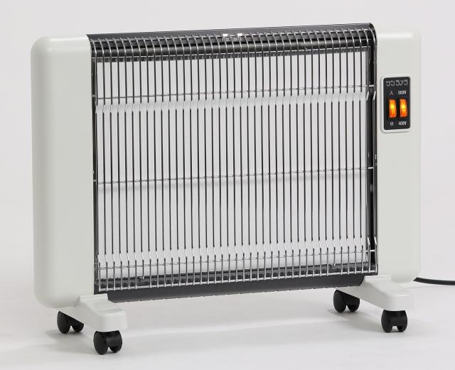 即日発送☆5年保証付き 正規販売店 【サンラメラ 600W型】カラー ホワイト遠赤外線輻射式暖房器
