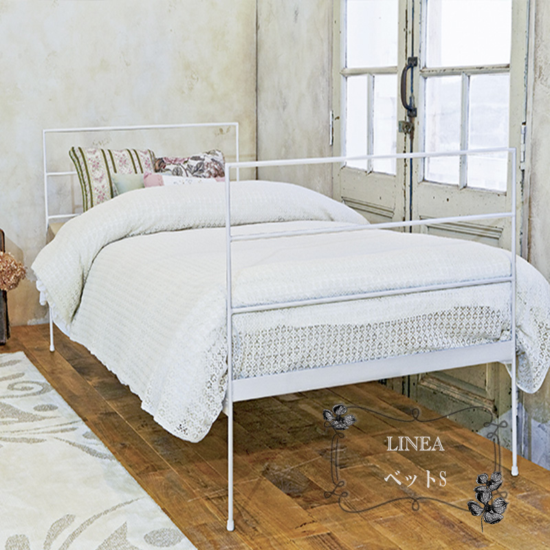 アイアンベッド シングルベッド ベッドフレーム パイプベッド 寝具 アンティーク/アイアン家具/インテリア/クラッシック組み立式代引き不可商品 ご指定日受付不可フレームのみ マットレス別売り