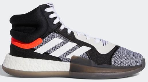 アディダス(adidas) Marquee Boost バスケットボールシューズ ランニングホワイト×コアブラック BB7822