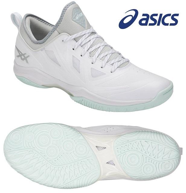 アシックス グライド ノヴァ FF 男女兼用 ローカット バスケットボールシューズ ホワイト×グレイシャーグレー 1061A003-101