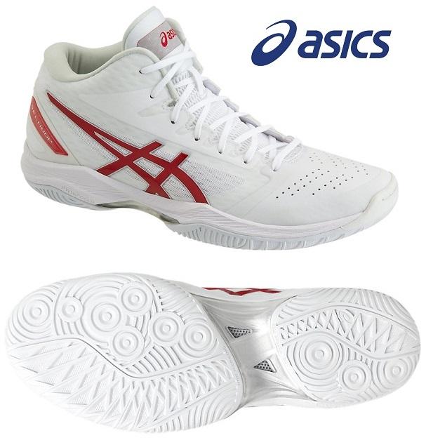 アシックス(asics) GELフープ V11-NARROW 男女兼用 バスケットボールシューズ ホワイト×クラシックレッド 1061A013-118