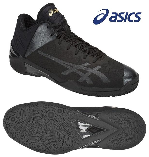 アシックス GELバースト 22 Z 男女兼用 ローカット バスケットボールシューズ ブラック×ブラック 1063A001-001