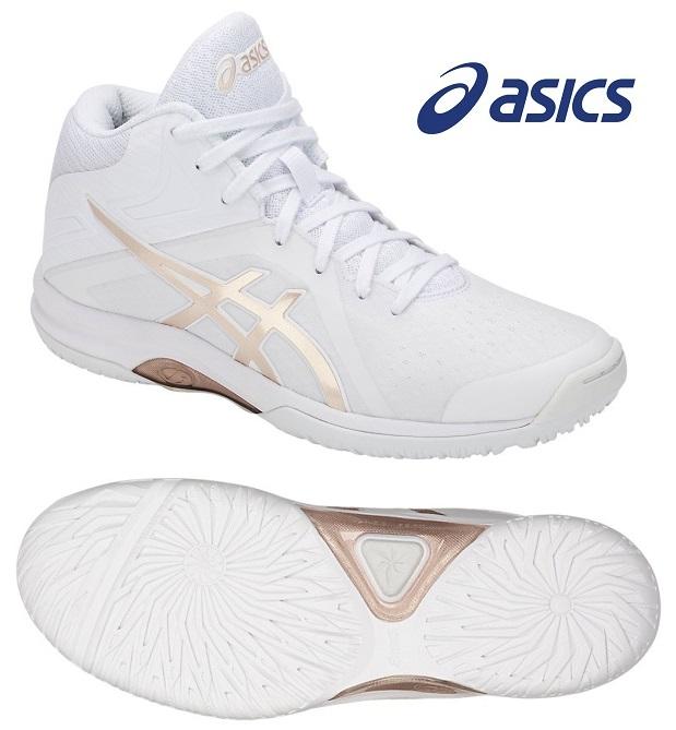 アシックス レディGELフェアリー 8 レディース用 バスケットボールシューズ ホワイト×FROSTED ALMOND TBF403-100