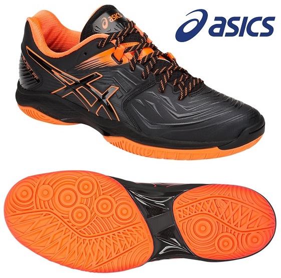 アシックス(asics) ブラスト FF インドア用 ハンドボールシューズ ブラック×ショッキングオレンジ 1071A002-001