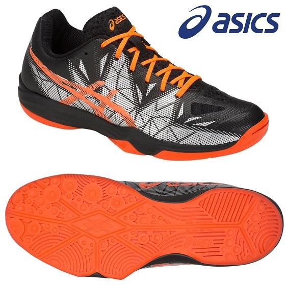 アシックス(asics) GEL-ファストボール 3 インドア用 ハンドボールシューズ ブラック×ショッキングオレンジ THH546-001