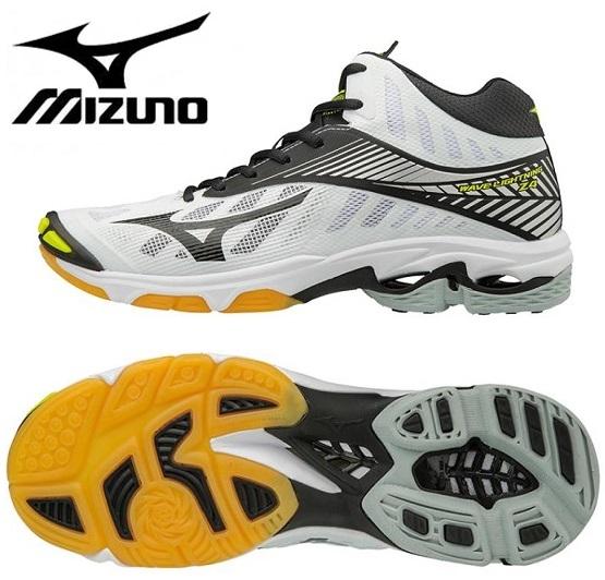 ミズノ ウエーブライトニング Z4 MID バレーボールシューズ ホワイト×ブラック色 V1GA180509