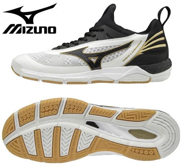 ミズノ(mizuno) ウエーブルミナス ローカット バレーボールシューズ ホワイト×ブラック V1GA182009