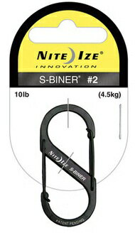NITEIZE/ knight Aizu S-biner #2 black extreme popularity one-two hook carabiner key ring!