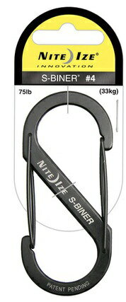 NITEIZE/ knight Aizu S-biner #4 black extreme popularity one-two hook carabiner key ring!