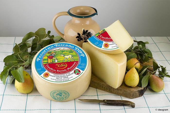 【送料無料】 ペコリーノ トスカーノ(フレスコ)DOP チーズ <イタリア産>【ホール 約1.8-2kg】【冷蔵品】