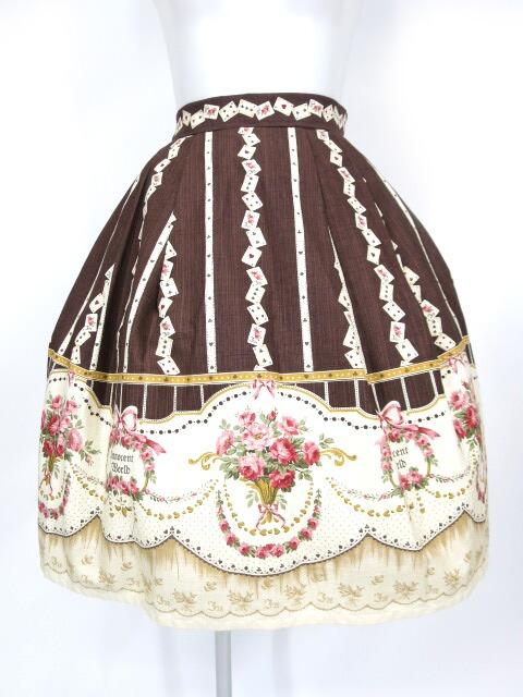【中古】Innocent World / バラとトランプのスカート&ヘッドドレス イノセントワールド B11819_1806