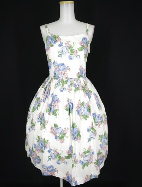 【中古】Jane Marple / ローズブーケプリントのストラップドレス ジェーンマープル ワンピース B13986_1808