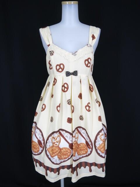 Emily Temple cute / ビスケット&チョコプリントノースリーブワンピース エミリーテンプルキュート ジャンパースカート B15039_1809